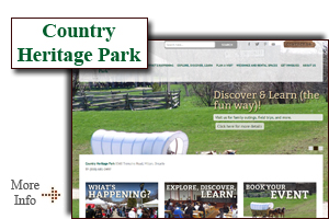 Country Heritage Park - an interactive heritage park located in the shadow of the Niagara Escarpment.  School programs, special events, attractions, antique tractors and more!