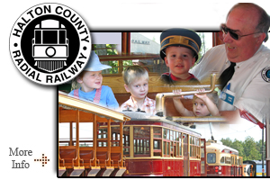 Halton County Railway Museum - Featuring historic electric railcars operating on a 2 km stretch of scenic track.  A great day trip for railway enthusiasts young and old!