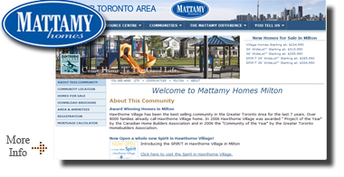 Mattamy Homes Milton Ontario