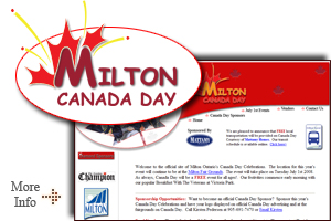 Milton Ontario Canada Day Celebrations