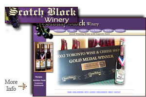 Scotch Block Winery - One of Halton's best kept secrets.  A wonderful sampling of exceptional wines, ranging from dry fruit and grape wines, to ice and dessert wines.  Visit the Scotch Block Winery website for more information.