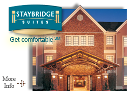 Staybridge Suites - Now open!  Oakville's newest extended stay experience.  This Oakville hotel's upscale accommodations include a selection of spacious suites, complimentary daily hot and cold full breakfast buffet, full signing privileges for food & beverage at the adjacent Marquis Bistro Restaurant & Grill.